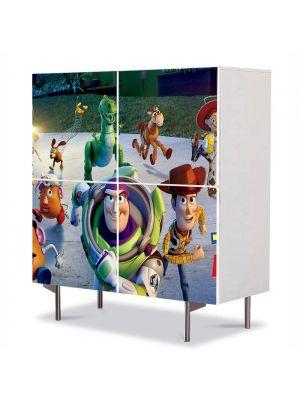 Comoda cu 4 Usi Art Work pentru Copii Animatie Toy Story 3 Marea Evadare , 84 x 84 cm