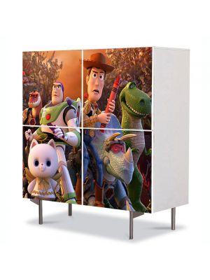Comoda cu 4 Usi Art Work pentru Copii Animatie Toy Story Timpul pierdut , 84 x 84 cm