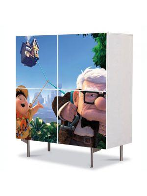 Comoda cu 4 Usi Art Work pentru Copii Animatie Pixar Up Movie , 84 x 84 cm