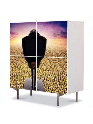 Comoda cu 4 Usi Art Work pentru Copii Animatie Despicable Me 2 Gru si Minions , 84 x 84 cm