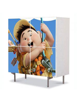 Comoda cu 4 Usi Art Work pentru Copii Animatie Filmul Up , 84 x 84 cm