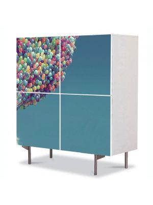 Comoda cu 4 Usi Art Work pentru Copii Animatie Up House , 84 x 84 cm
