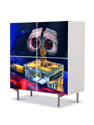 Comoda cu 4 Usi Art Work pentru Copii Animatie Wall E 2 , 84 x 84 cm