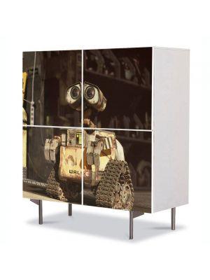 Comoda cu 4 Usi Art Work pentru Copii Animatie Wall E 3 , 84 x 84 cm