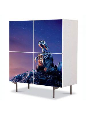 Comoda cu 4 Usi Art Work pentru Copii Animatie Wall E 4 , 84 x 84 cm