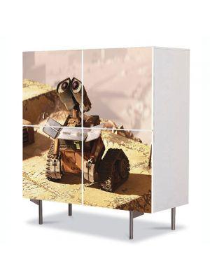 Comoda cu 4 Usi Art Work pentru Copii Animatie Wall E Uitandu-se in sus , 84 x 84 cm
