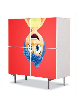 Comoda cu 4 Usi Art Work pentru Copii Animatie Inside Out 2015 Joy Disney Pixar , 84 x 84 cm