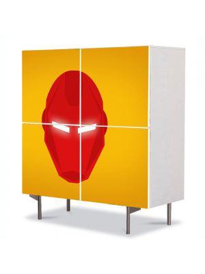 Comoda cu 4 Usi Art Work pentru Copii Animatie Iron Man , 84 x 84 cm