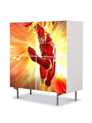 Comoda cu 4 Usi Art Work pentru Copii Animatie Lightning Strikes DC Universe Online , 84 x 84 cm