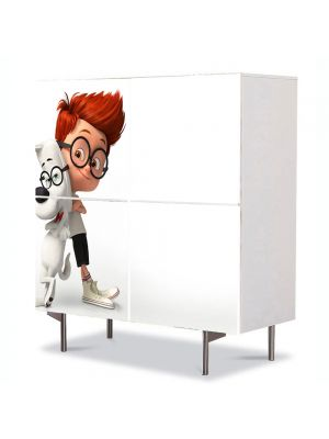 Comoda cu 4 Usi Art Work pentru Copii Animatie Peaboy si Sherman , 84 x 84 cm
