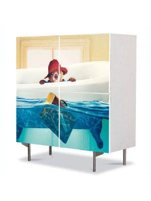 Comoda cu 4 Usi Art Work pentru Copii Animatie Paddington Bear , 84 x 84 cm