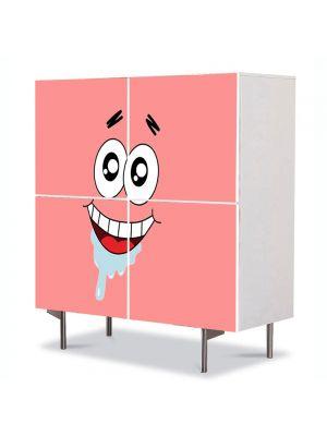 Comoda cu 4 Usi Art Work pentru Copii Animatie Patrick Star , 84 x 84 cm