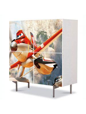 Comoda cu 4 Usi Art Work pentru Copii Animatie Planes Fire and Rescue 2014 , 84 x 84 cm