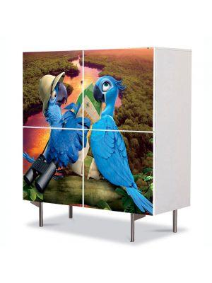 Comoda cu 4 Usi Art Work pentru Copii Animatie Rio 2 2014 , 84 x 84 cm
