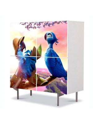 Comoda cu 4 Usi Art Work pentru Copii Animatie Rio 2 Calatorii , 84 x 84 cm