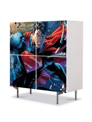 Comoda cu 4 Usi Art Work pentru Copii Animatie Superman , 84 x 84 cm