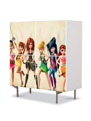 Comoda cu 4 Usi Art Work pentru Copii Animatie The Pirate Fairy 2014 , 84 x 84 cm