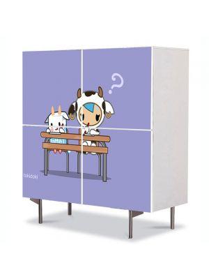 Comoda cu 4 Usi Art Work pentru Copii Animatie Tokidoki , 84 x 84 cm