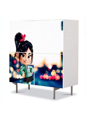 Comoda cu 4 Usi Art Work pentru Copii Animatie Wreck it Ralph , 84 x 84 cm