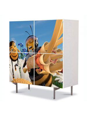 Comoda cu 4 Usi Art Work pentru Copii Animatie Bee Movie 4 , 84 x 84 cm