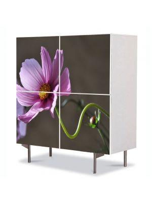 Comoda cu 4 Usi Art Work Flori Gratie, 84 x 84 cm