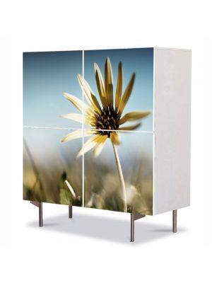 Comoda cu 4 Usi Art Work Flori Floare de colt, 84 x 84 cm