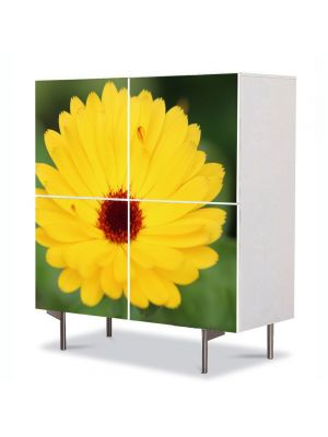 Comoda cu 4 Usi Art Work Flori Inflorire, 84 x 84 cm