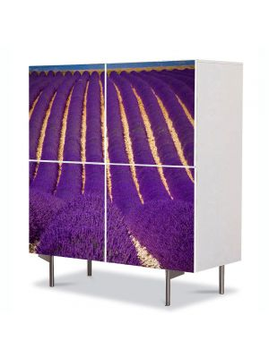 Comoda cu 4 Usi Art Work Flori Camp superb violet, 84 x 84 cm