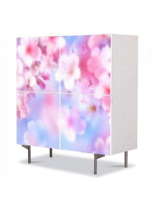 Comoda cu 4 Usi Art Work Flori Proaspat inflorite, 84 x 84 cm
