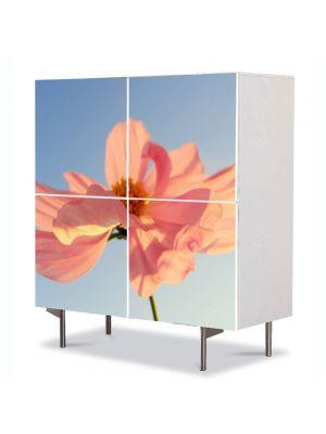 Comoda cu 4 Usi Art Work Flori Petale in vant, 84 x 84 cm