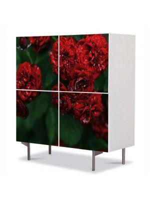 Comoda cu 4 Usi Art Work Flori Florile dragostei, 84 x 84 cm