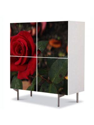 Comoda cu 4 Usi Art Work Flori Floarea iubirii, 84 x 84 cm