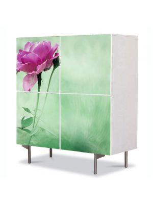 Comoda cu 4 Usi Art Work Flori Trandafiri cadou, 84 x 84 cm