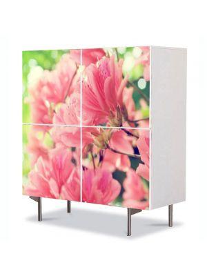 Comoda cu 4 Usi Art Work Flori Flori de primavara frumoase, 84 x 84 cm