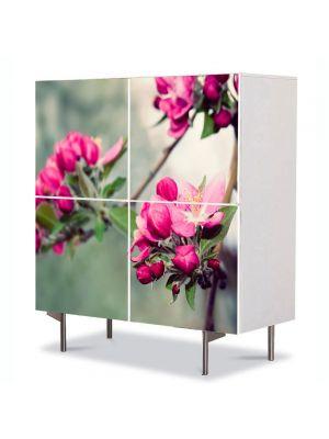 Comoda cu 4 Usi Art Work Flori Frumusetea naturii, 84 x 84 cm