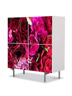 Comoda cu 4 Usi Art Work Flori Buchet de flori, 84 x 84 cm