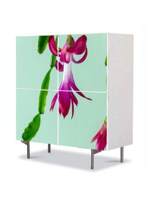 Comoda cu 4 Usi Art Work Flori Cactus de craciun, 84 x 84 cm