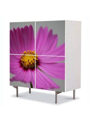 Comoda cu 4 Usi Art Work Flori Floare Cosmo, 84 x 84 cm