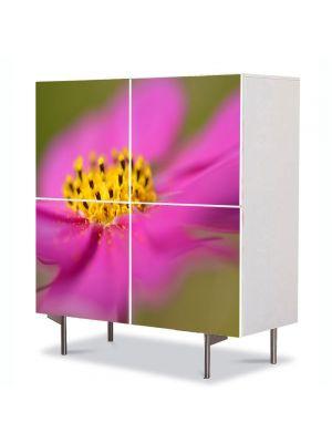 Comoda cu 4 Usi Art Work Flori Floricica Cosmo, 84 x 84 cm
