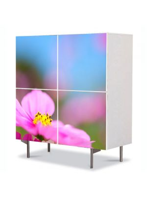 Comoda cu 4 Usi Art Work Flori Floare cu nuante violet, 84 x 84 cm
