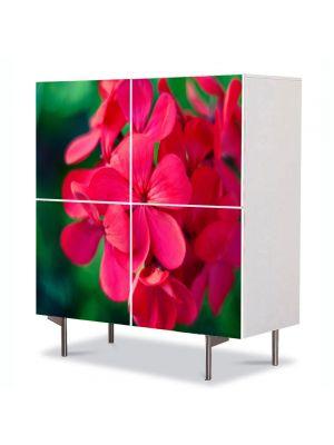 Comoda cu 4 Usi Art Work Flori Floricica speciala, 84 x 84 cm