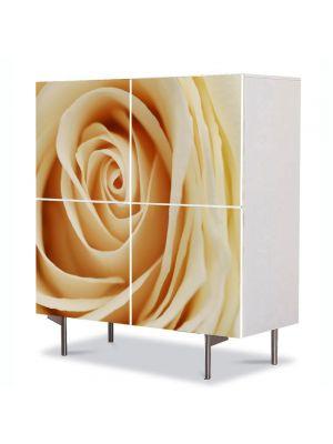 Comoda cu 4 Usi Art Work Flori Inima delicata, 84 x 84 cm