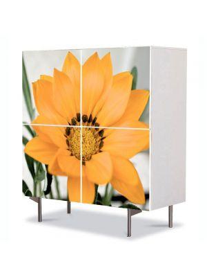 Comoda cu 4 Usi Art Work Flori Floare inflorita, 84 x 84 cm