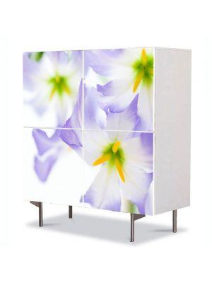 Comoda cu 4 Usi Art Work Flori Lumina puternica, 84 x 84 cm