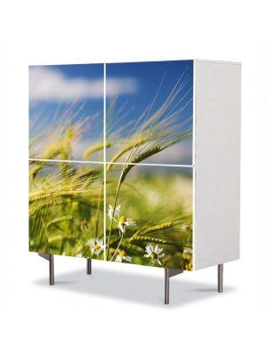 Comoda cu 4 Usi Art Work Peisaje Spice in vant, 84 x 84 cm