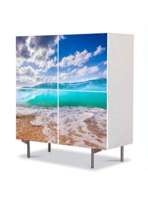 Comoda cu 4 Usi Art Work Peisaje Valul, 84 x 84 cm