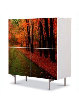 Comoda cu 4 Usi Art Work Peisaje Dupa ploaie, 84 x 84 cm