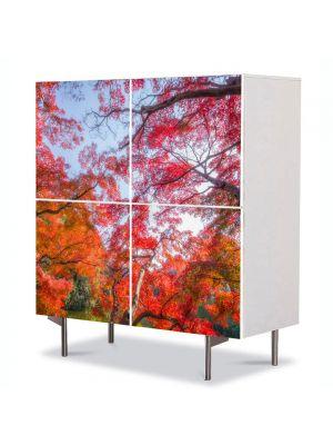 Comoda cu 4 Usi Art Work Peisaje Suprarealism, 84 x 84 cm