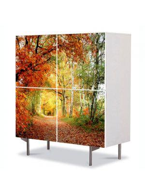 Comoda cu 4 Usi Art Work Peisaje Tunel natural, 84 x 84 cm