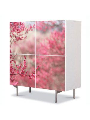 Comoda cu 4 Usi Art Work Peisaje Pomi fructiferi, 84 x 84 cm